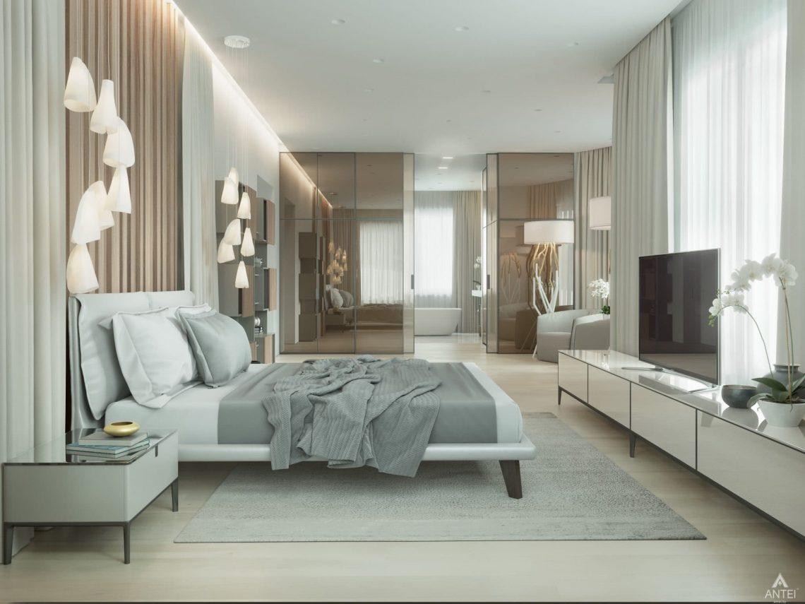 Дизайн интерьера двухэтажного дома в Гомеле - спальня фото №3