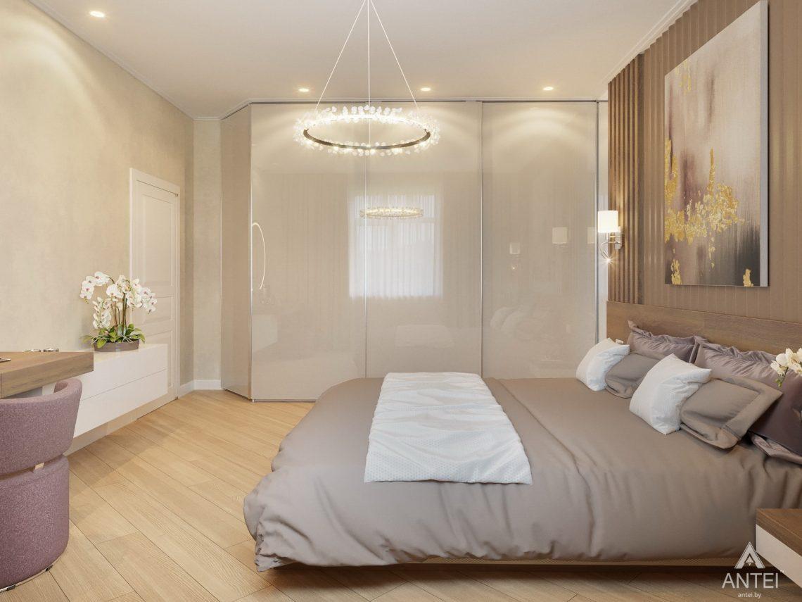 Дизайн интерьера одноэтажного дома в Гомеле - спальня фото №7