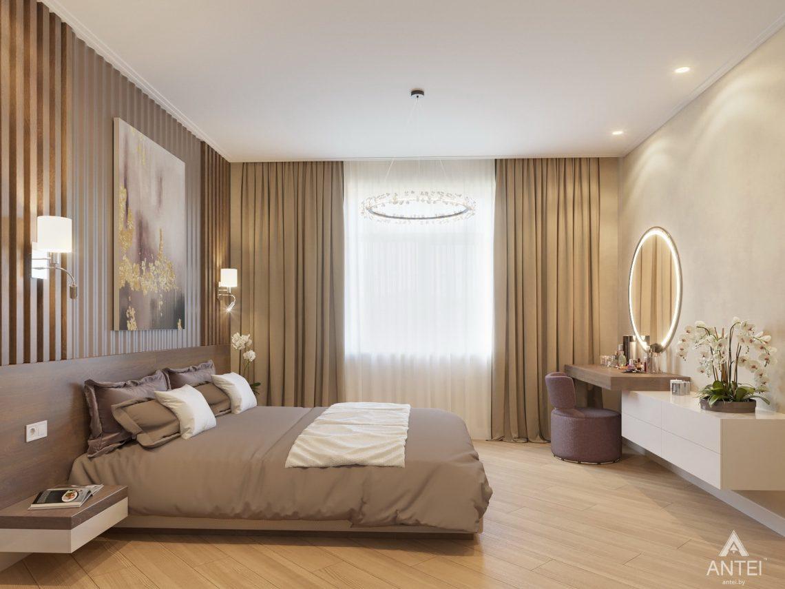 Дизайн интерьера одноэтажного дома в Гомеле - спальня фото №8