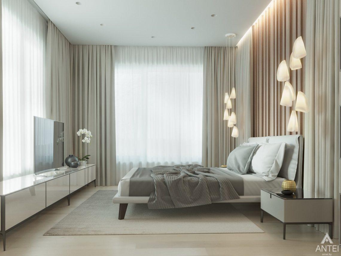 Дизайн интерьера двухэтажного дома в Гомеле - спальня фото №2