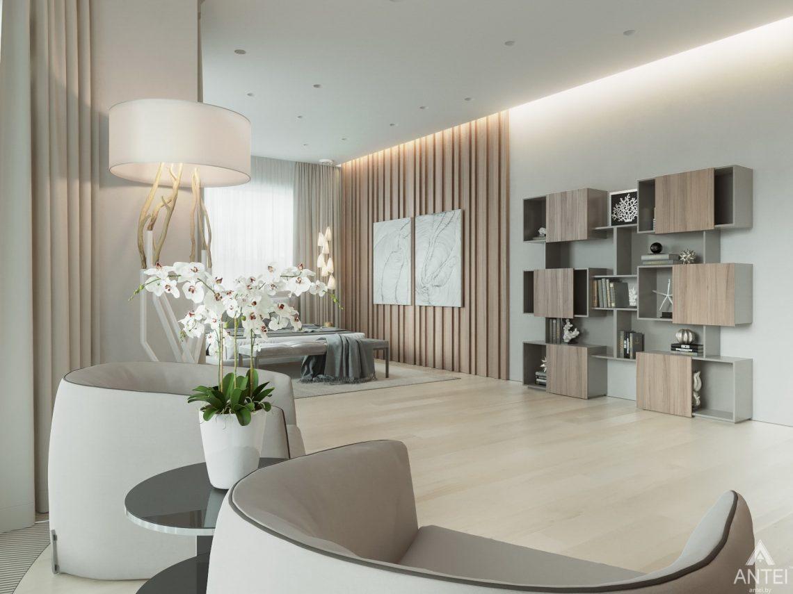 Дизайн интерьера двухэтажного дома в Гомеле - спальня фото №6