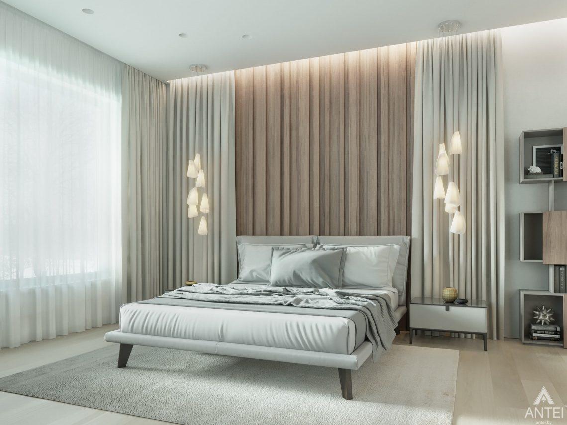 Дизайн интерьера двухэтажного дома в Гомеле - спальня фото №5