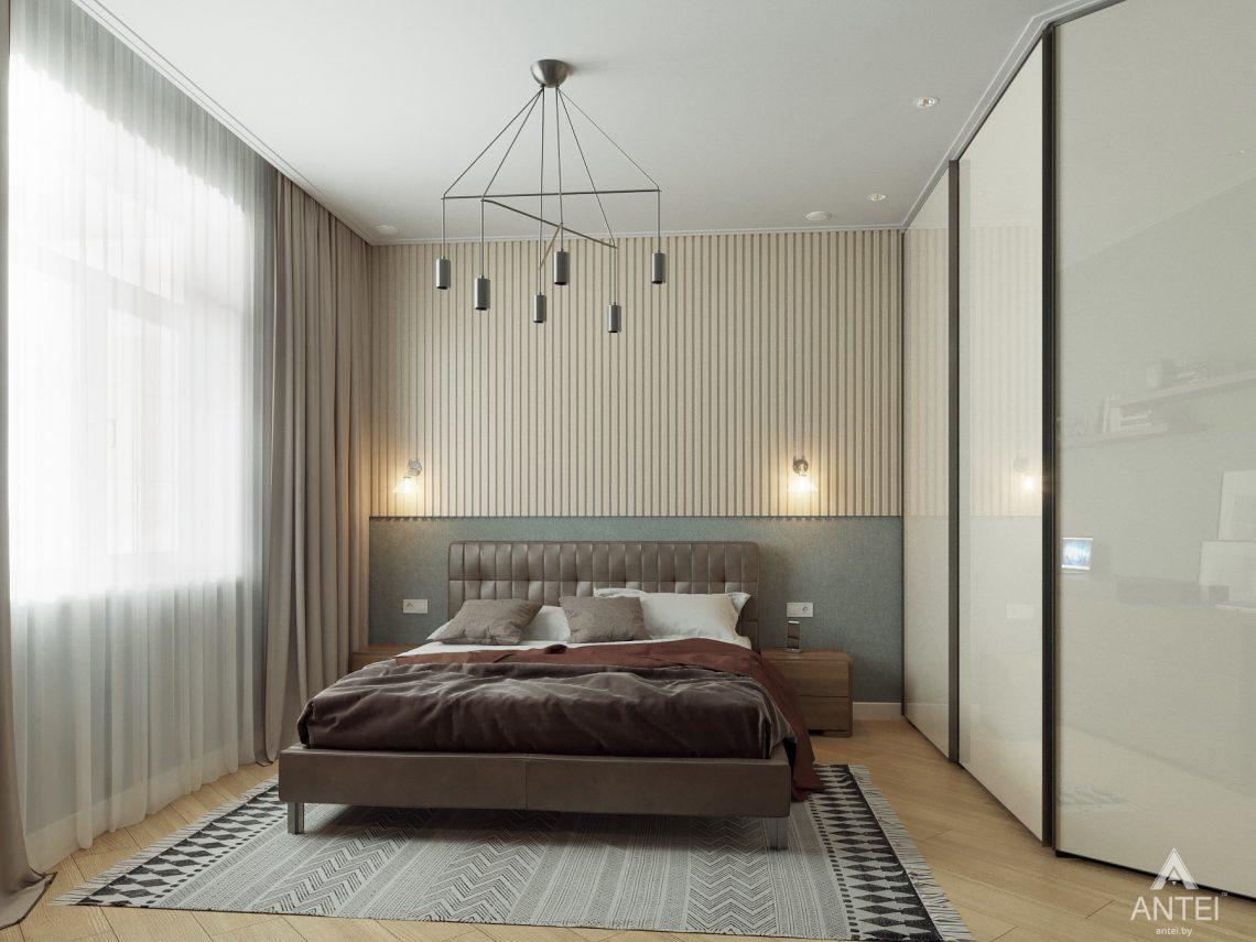 Дизайн интерьера одноэтажного дома в Гомеле - спальня фото №1