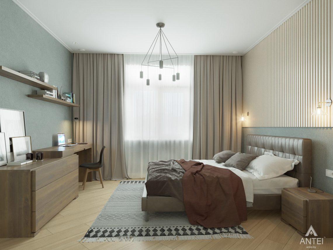 Дизайн интерьера одноэтажного дома в Гомеле - спальня фото №2