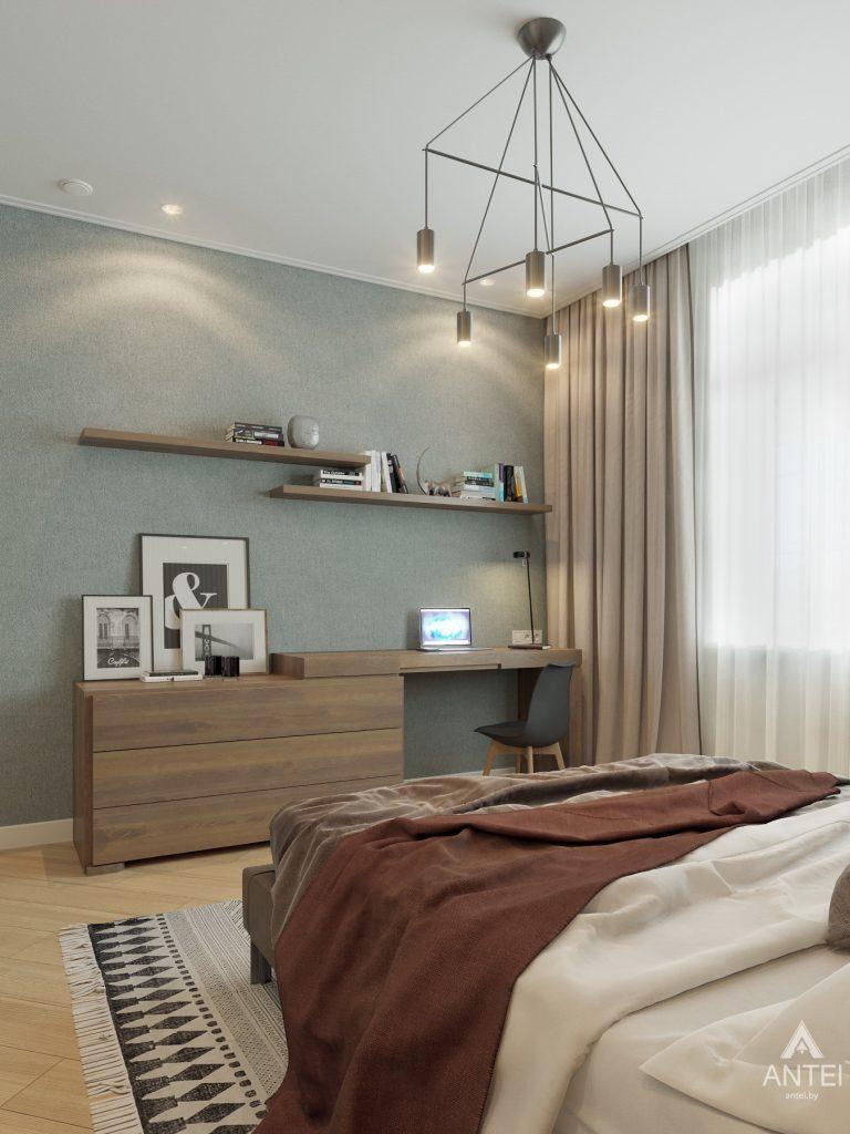 Дизайн интерьера одноэтажного дома в Гомеле - спальня фото №4