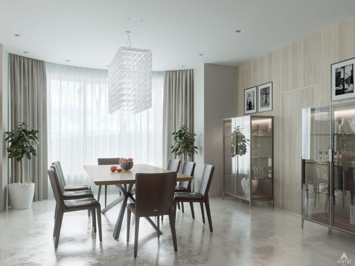 Дизайн интерьера двухэтажного дома в Гомеле - столовая фото №3