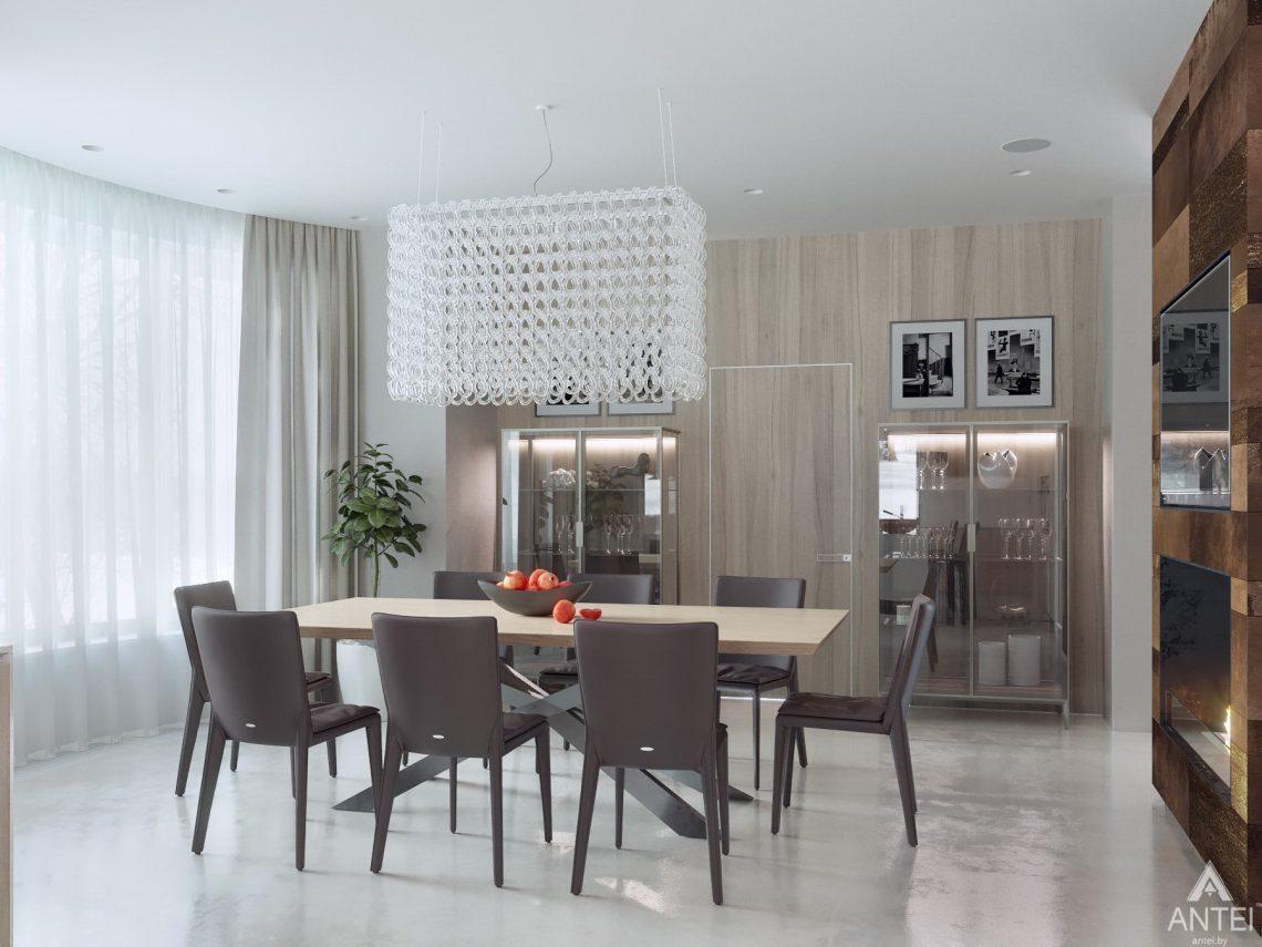Дизайн интерьера двухэтажного дома в Гомеле - столовая фото №2