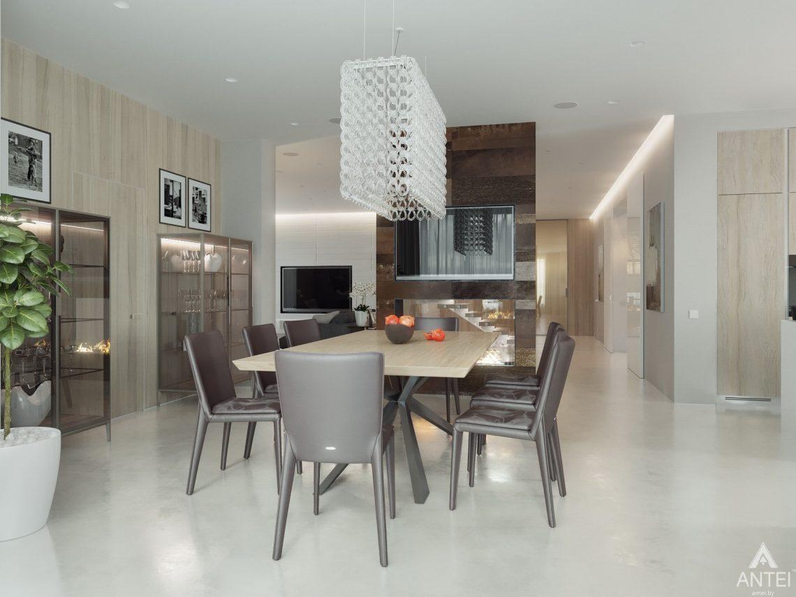Дизайн интерьера двухэтажного дома в Гомеле - столовая фото №1
