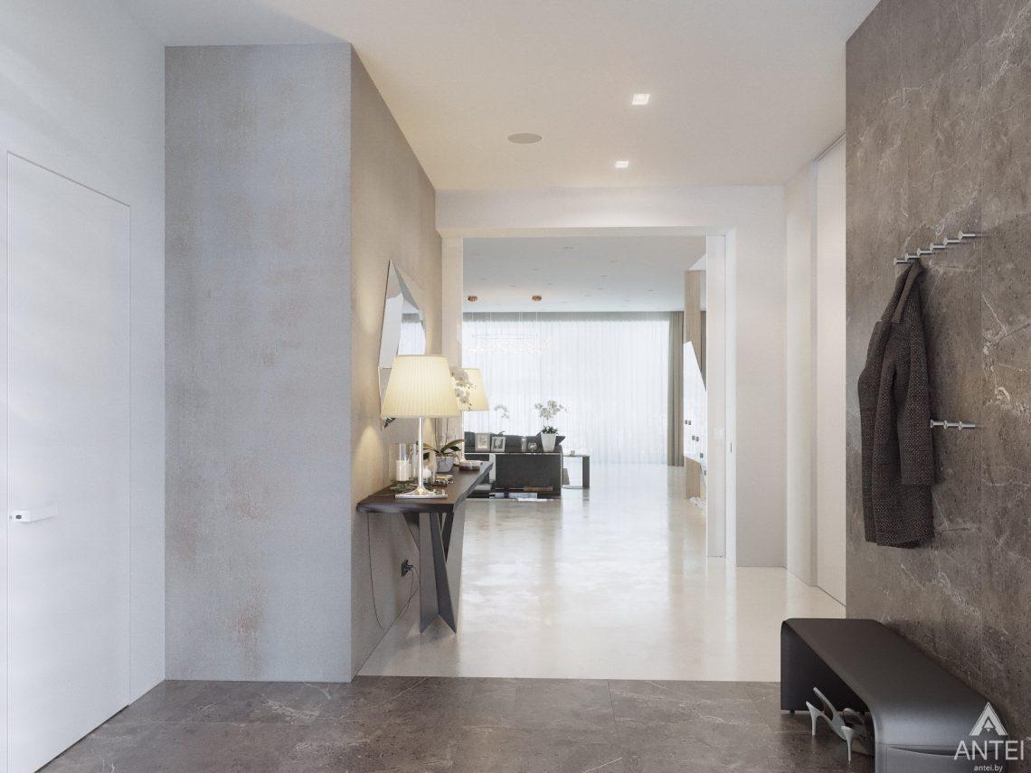 Дизайн интерьера двухэтажного дома в Гомеле - прихожая фото №3