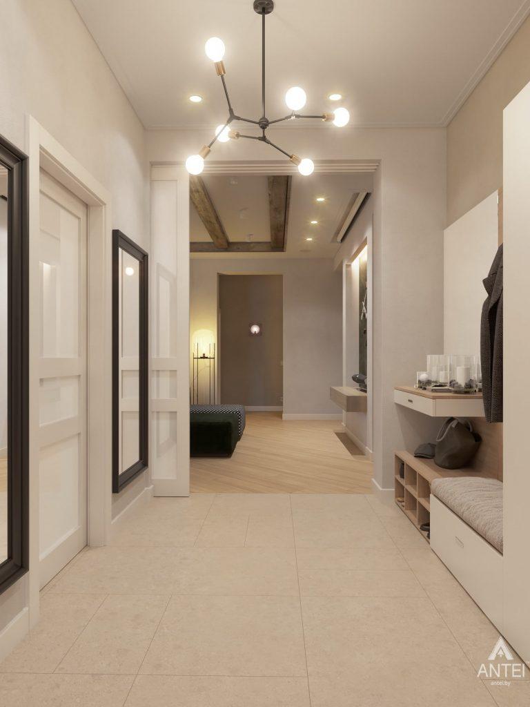 Дизайн интерьера одноэтажного дома в Гомеле - прихожая фото №1
