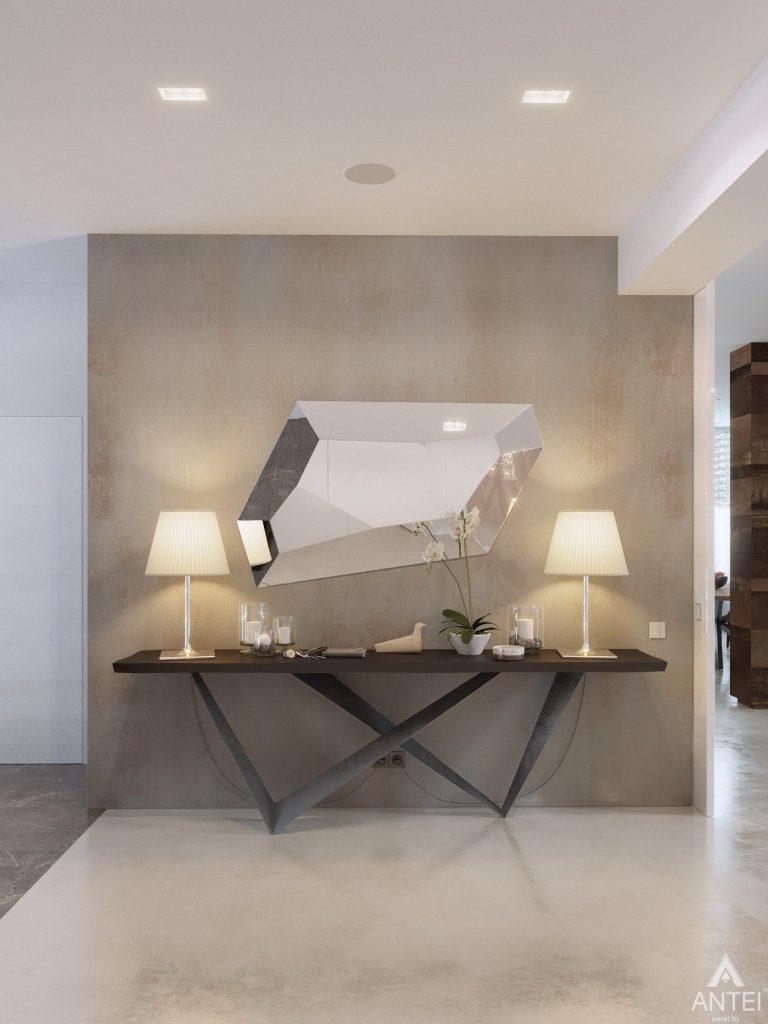 Дизайн интерьера двухэтажного дома в Гомеле - прихожая фото №4