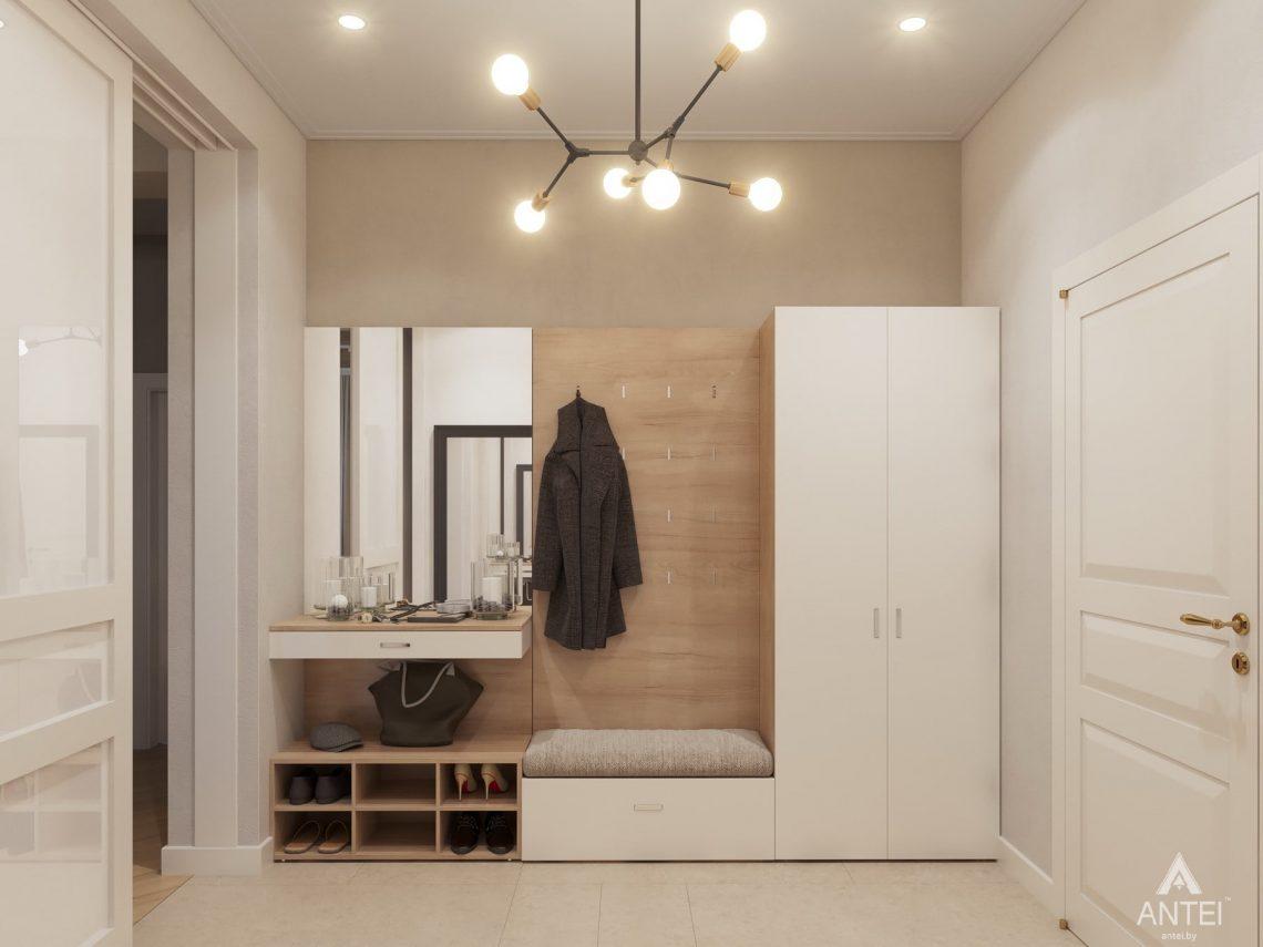 Дизайн интерьера одноэтажного дома в Гомеле - прихожая фото №3