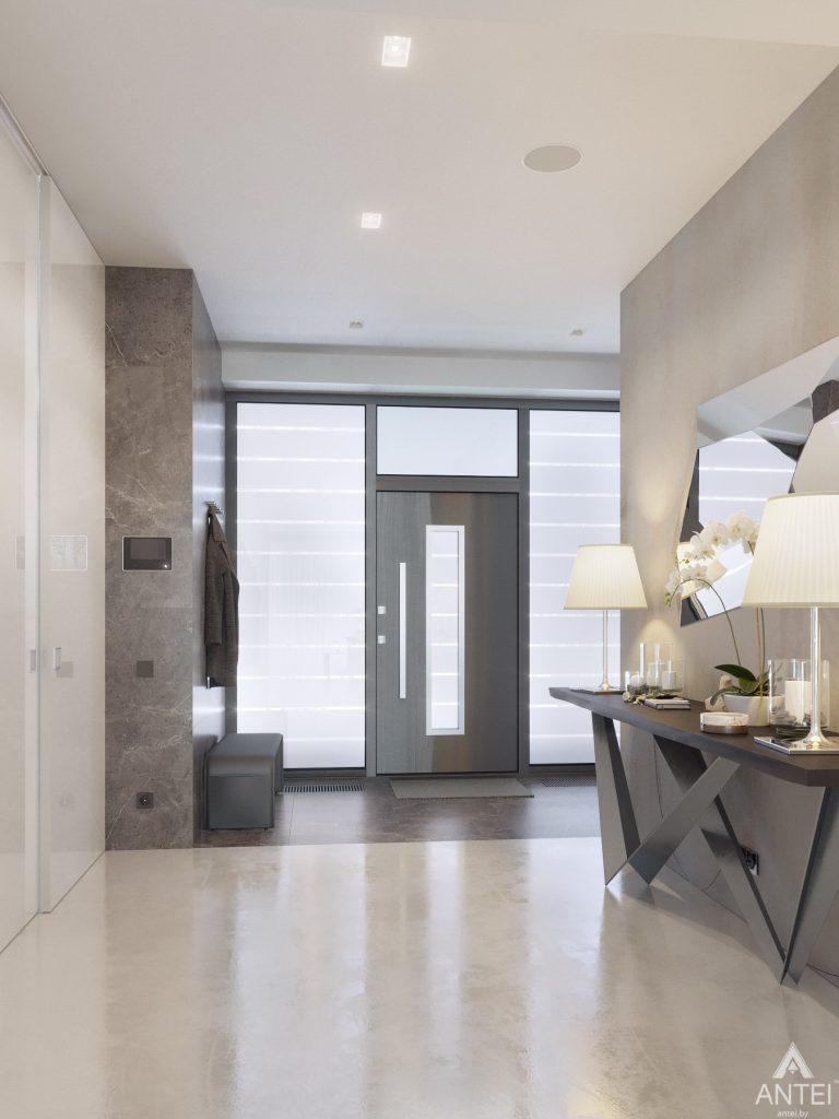 Дизайн интерьера двухэтажного дома в Гомеле - прихожая фото №5