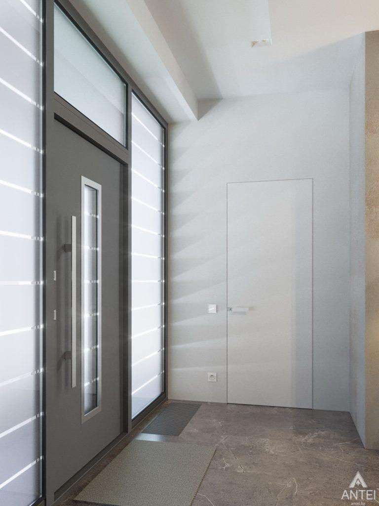 Дизайн интерьера двухэтажного дома в Гомеле - прихожая фото №1