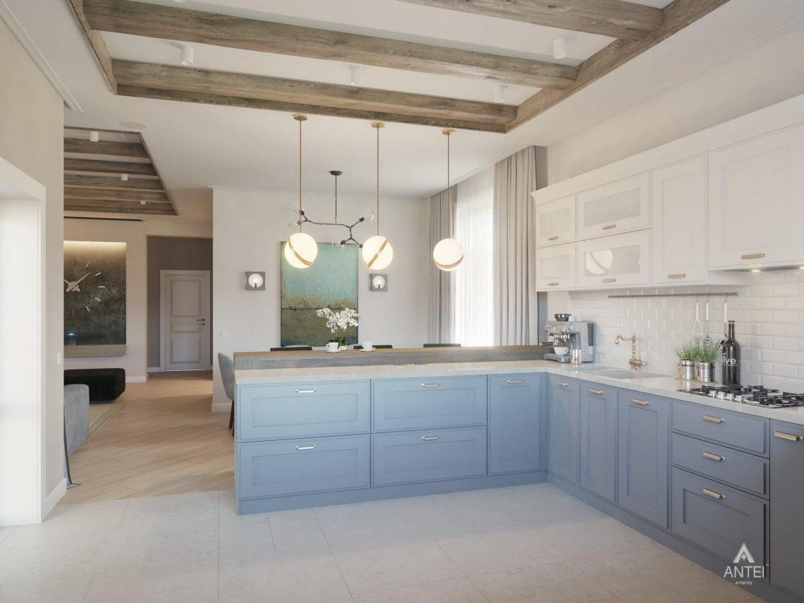 Дизайн интерьера одноэтажного дома в Гомеле - кухня фото №2