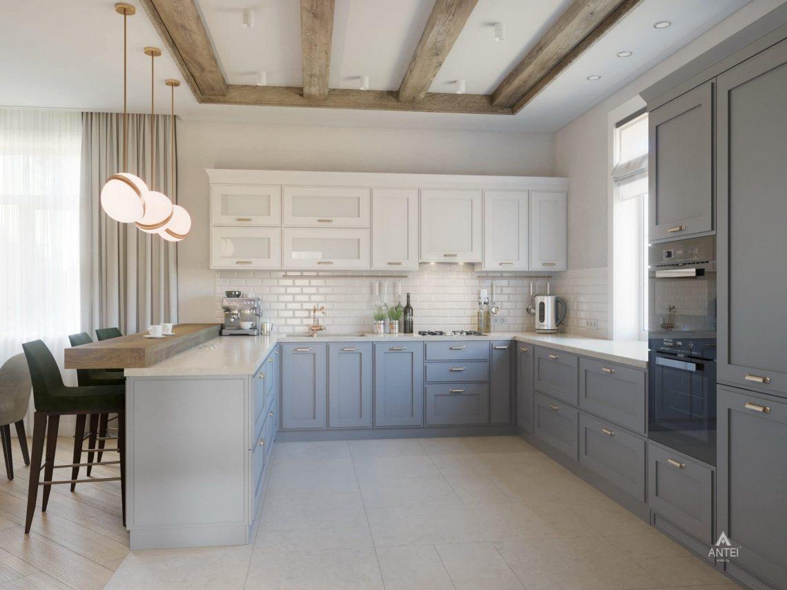 Дизайн интерьера одноэтажного дома в Гомеле - кухня фото №1