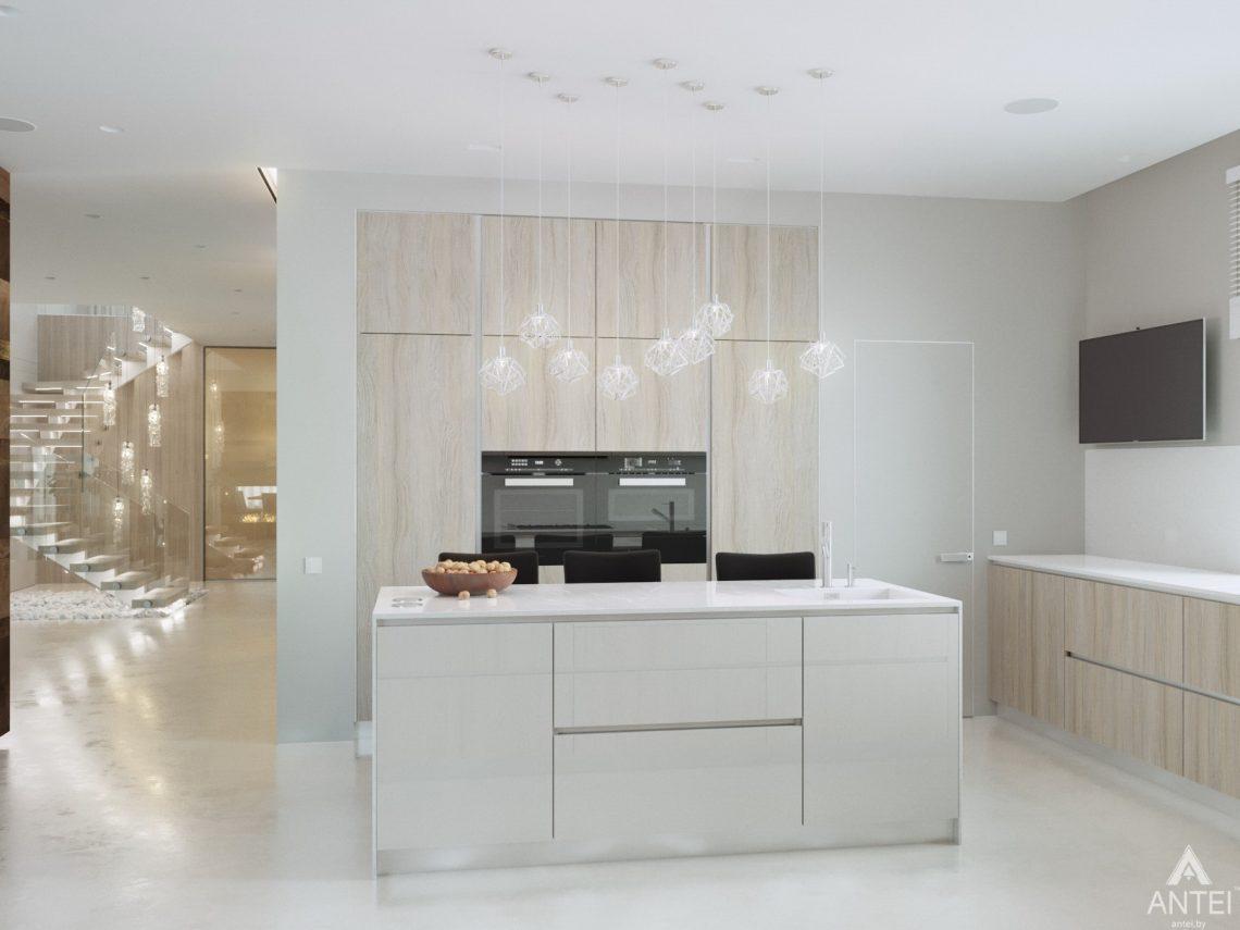 Дизайн интерьера двухэтажного дома в Гомеле - кухня фото №1
