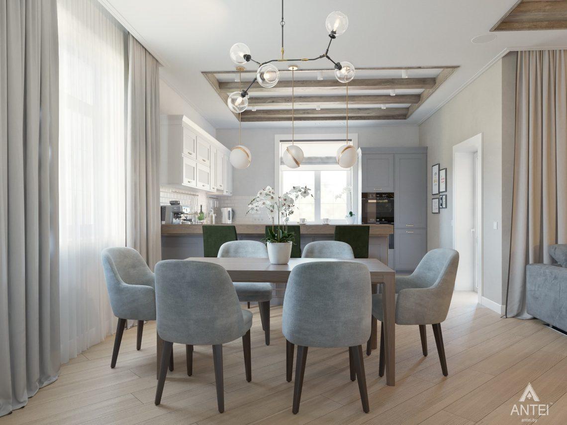 Дизайн интерьера одноэтажного дома в Гомеле - кухня фото №3