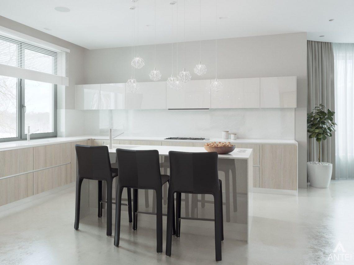 Дизайн интерьера двухэтажного дома в Гомеле - кухня фото №4