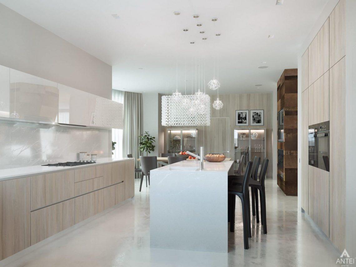 Дизайн интерьера двухэтажного дома в Гомеле - кухня фото №3