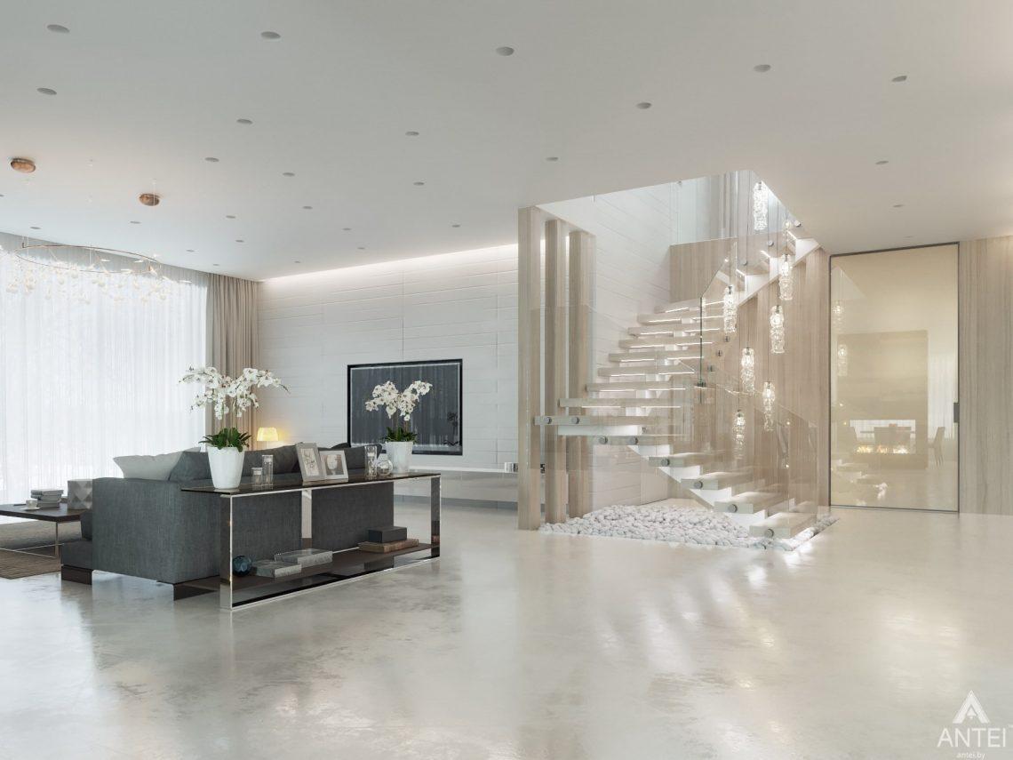 Дизайн интерьера двухэтажного дома в Гомеле - гостиная фото №5