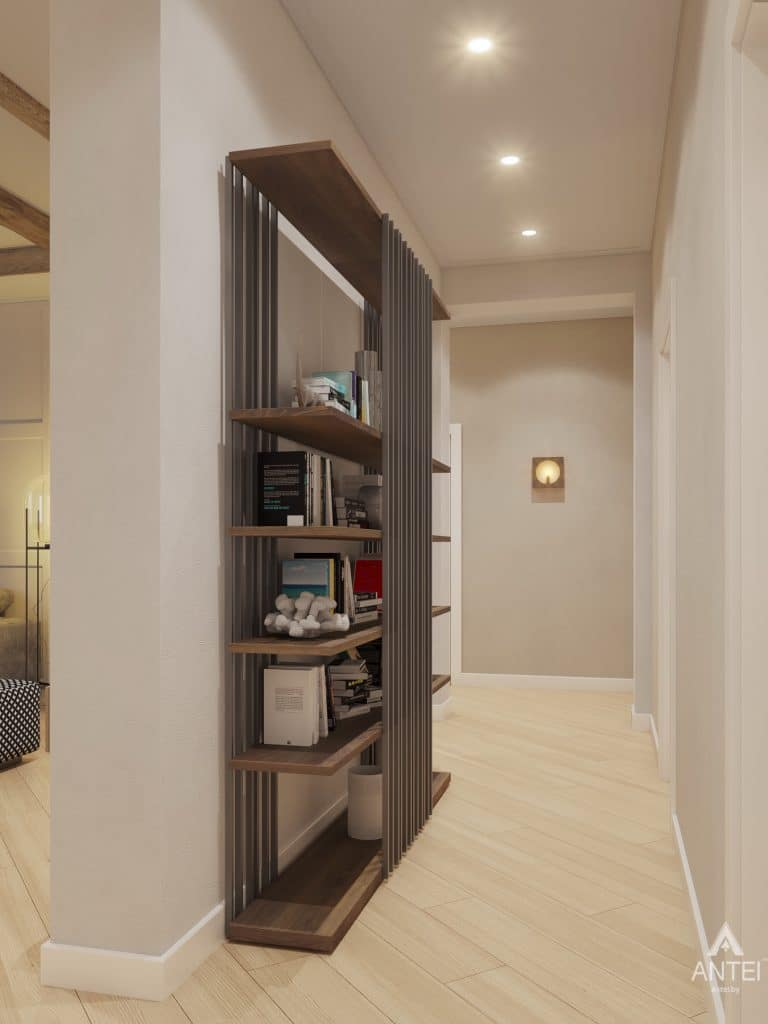 Дизайн интерьера одноэтажного дома в Гомеле - гостиная фото №6