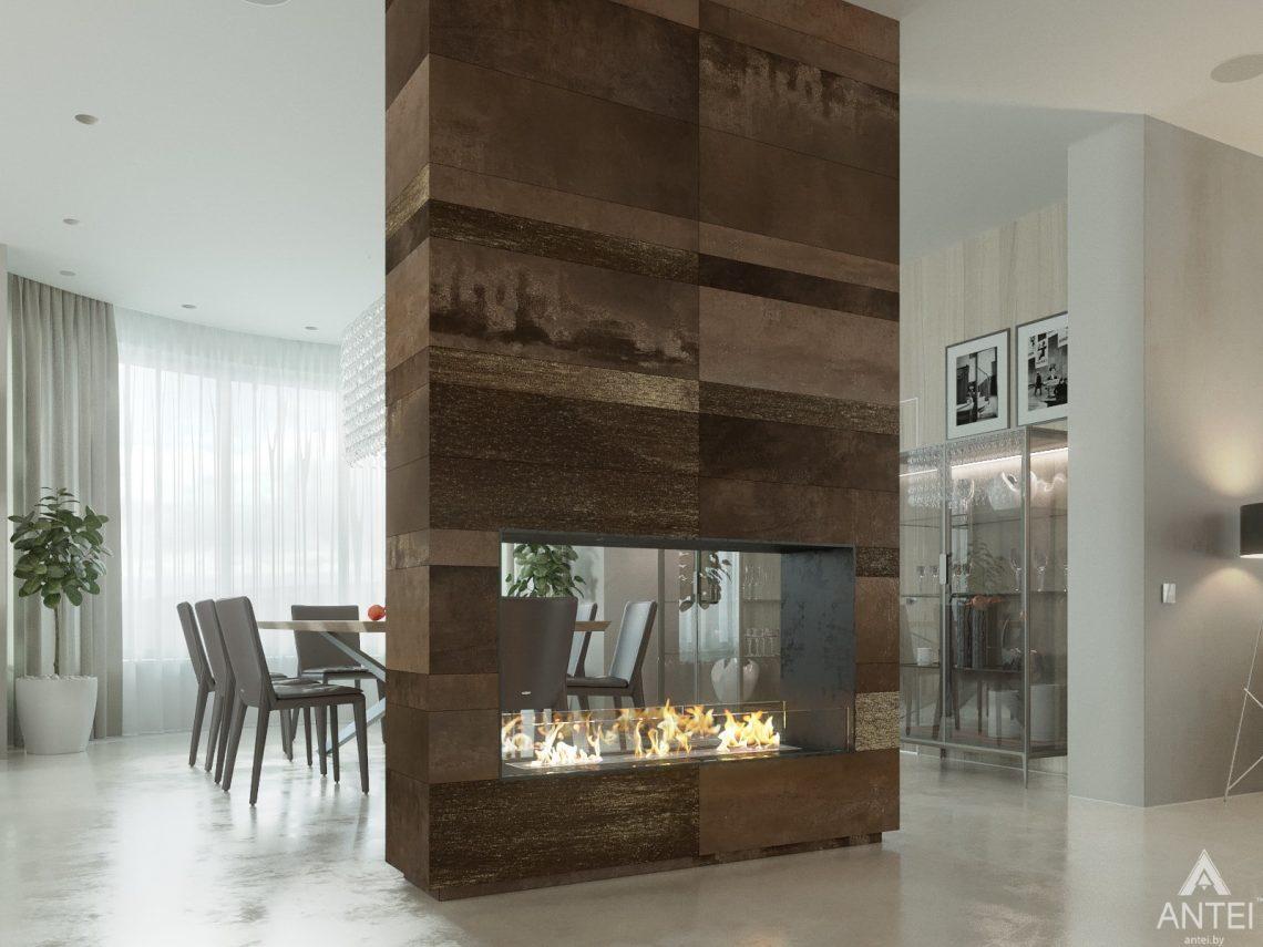 Дизайн интерьера двухэтажного дома в Гомеле - кухня фото №5