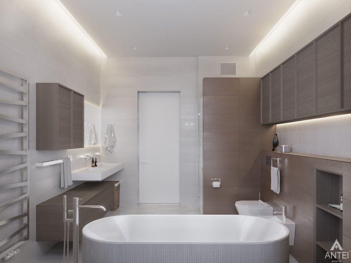 Дизайн интерьера двухэтажного дома в Гомеле - санузел фото №14
