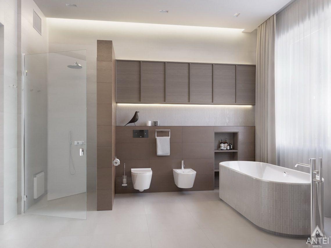 Дизайн интерьера двухэтажного дома в Гомеле - санузел фото №15