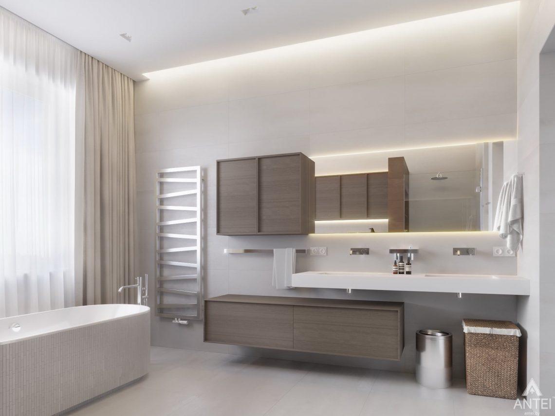 Дизайн интерьера двухэтажного дома в Гомеле - санузел фото №16