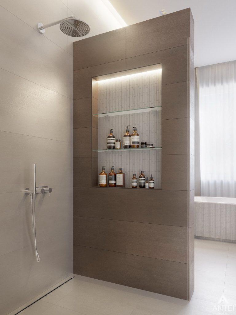 Дизайн интерьера двухэтажного дома в Гомеле - санузел фото №17