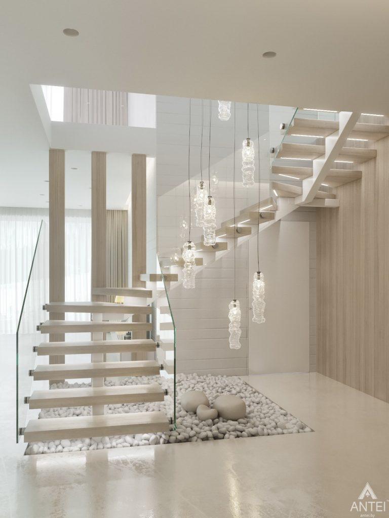 Дизайн интерьера двухэтажного дома в Гомеле - лестница фото №3