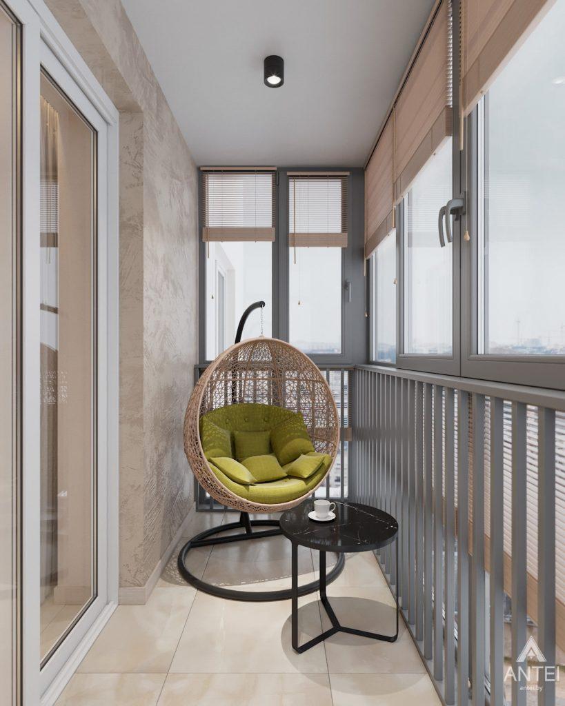 Дизайн интерьера трехкомнатная квартира в Гомеле, ул. Барыкина - балкон фото №1