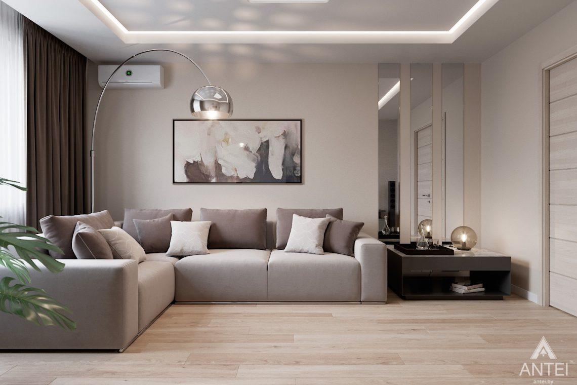 Дизайн интерьера трехкомнатная квартира в Гомеле, ул. Барыкина - гостиная фото №1