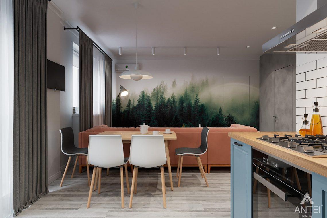 Дизайн интерьера двухкомнатная квартира в Минске, пр-т Дзержинского - гостиная фото №2