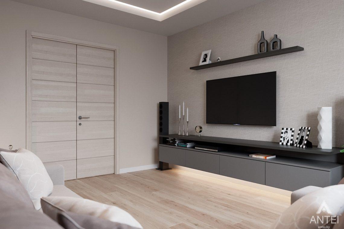 Дизайн интерьера трехкомнатная квартира в Гомеле, ул. Барыкина - гостиная фото №3