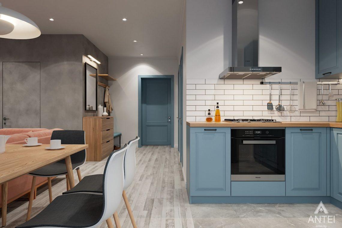 Дизайн интерьера двухкомнатная квартира в Минске, пр-т Дзержинского - кухня фото №2