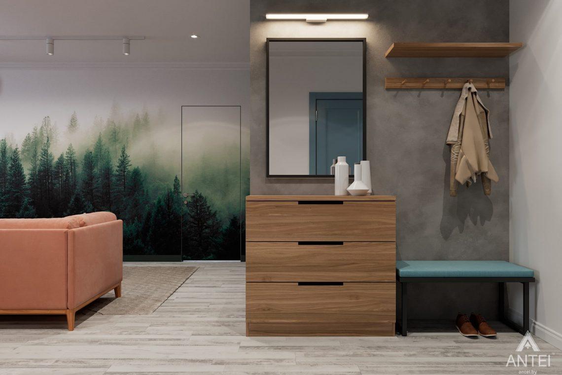 Дизайн интерьера двухкомнатная квартира в Минске, пр-т Дзержинского - гостиная фото №4