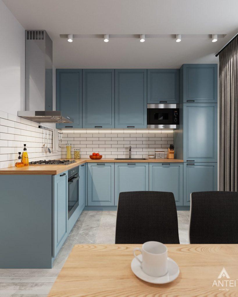 Дизайн интерьера двухкомнатная квартира в Минске, пр-т Дзержинского - кухня фото №1
