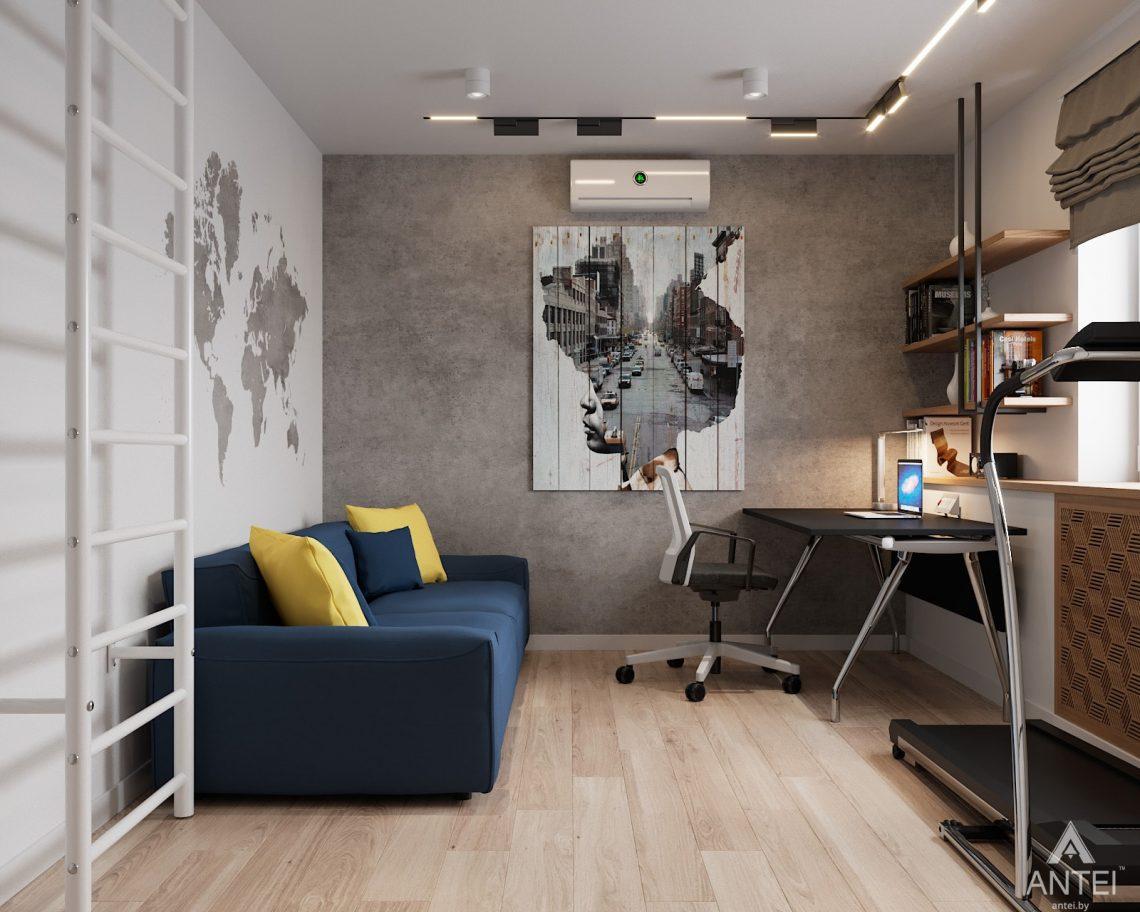 Дизайн интерьера трехкомнатная квартира в Гомеле, ул. Барыкина - кабинет фото №1