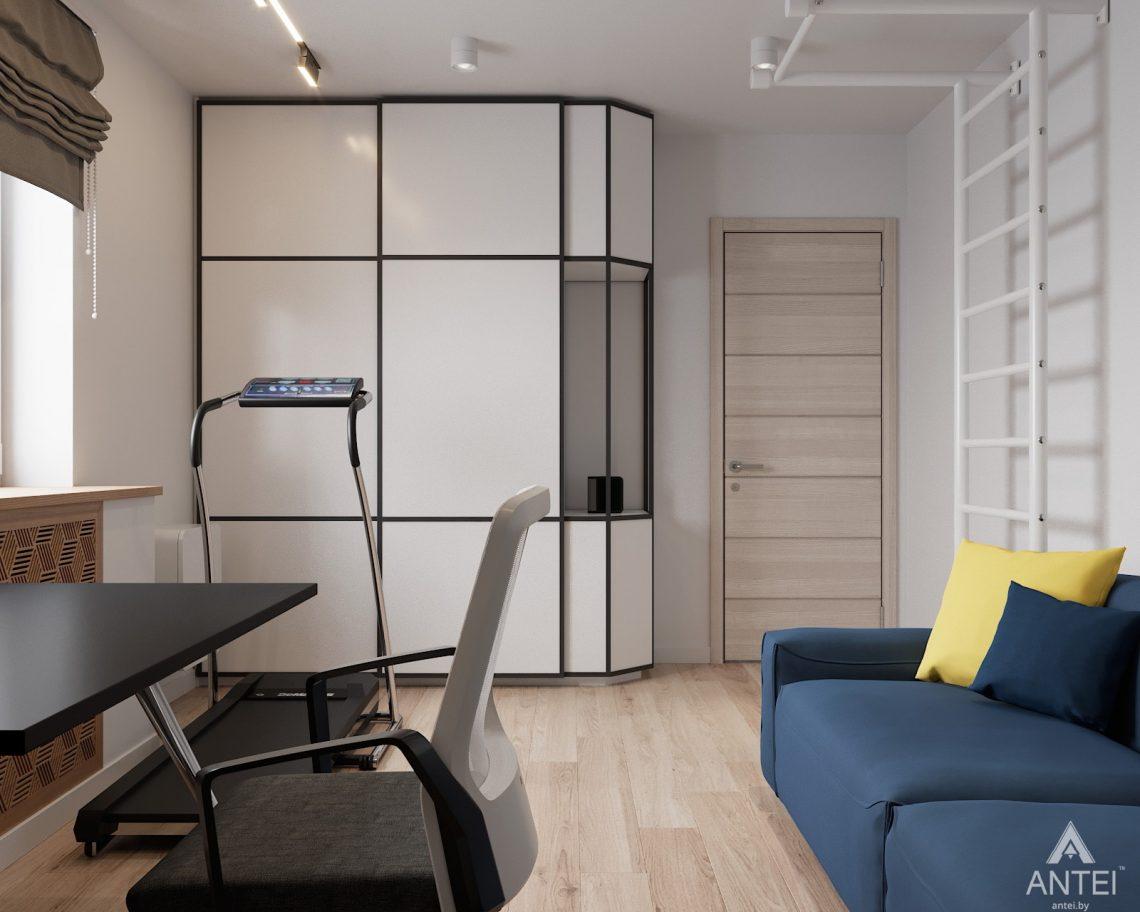Дизайн интерьера трехкомнатная квартира в Гомеле, ул. Барыкина - кабинет фото №2