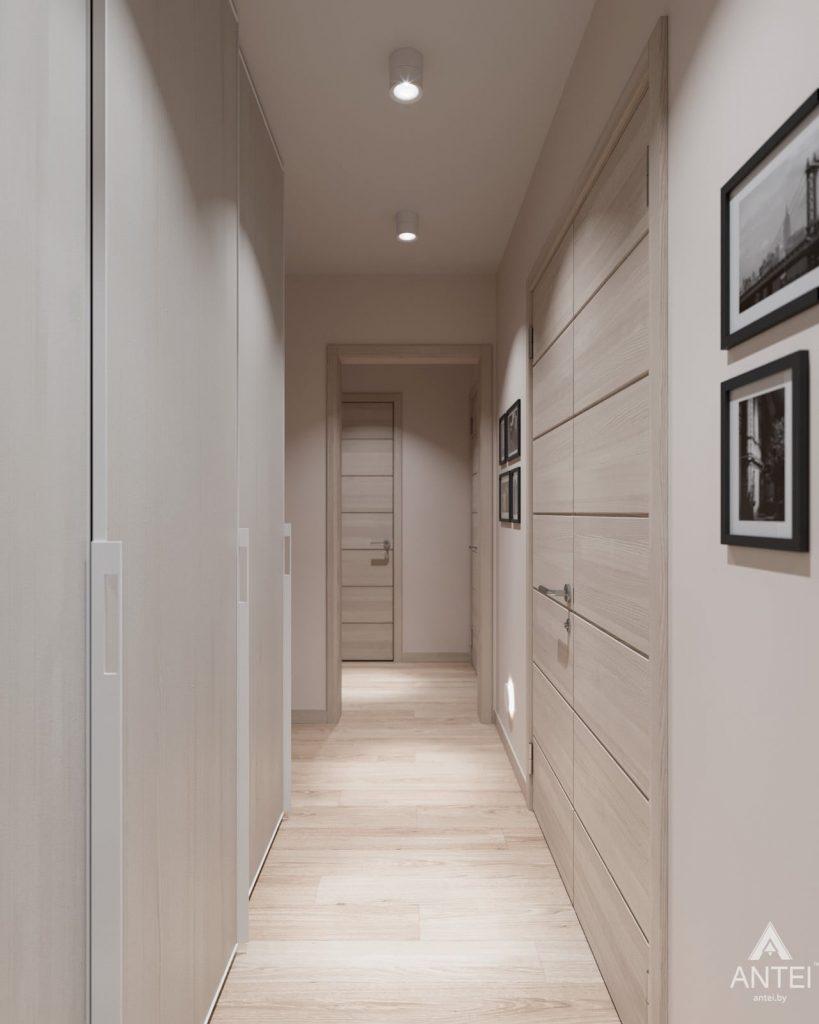 Дизайн интерьера трехкомнатная квартира в Гомеле, ул. Барыкина - коридор фото №2