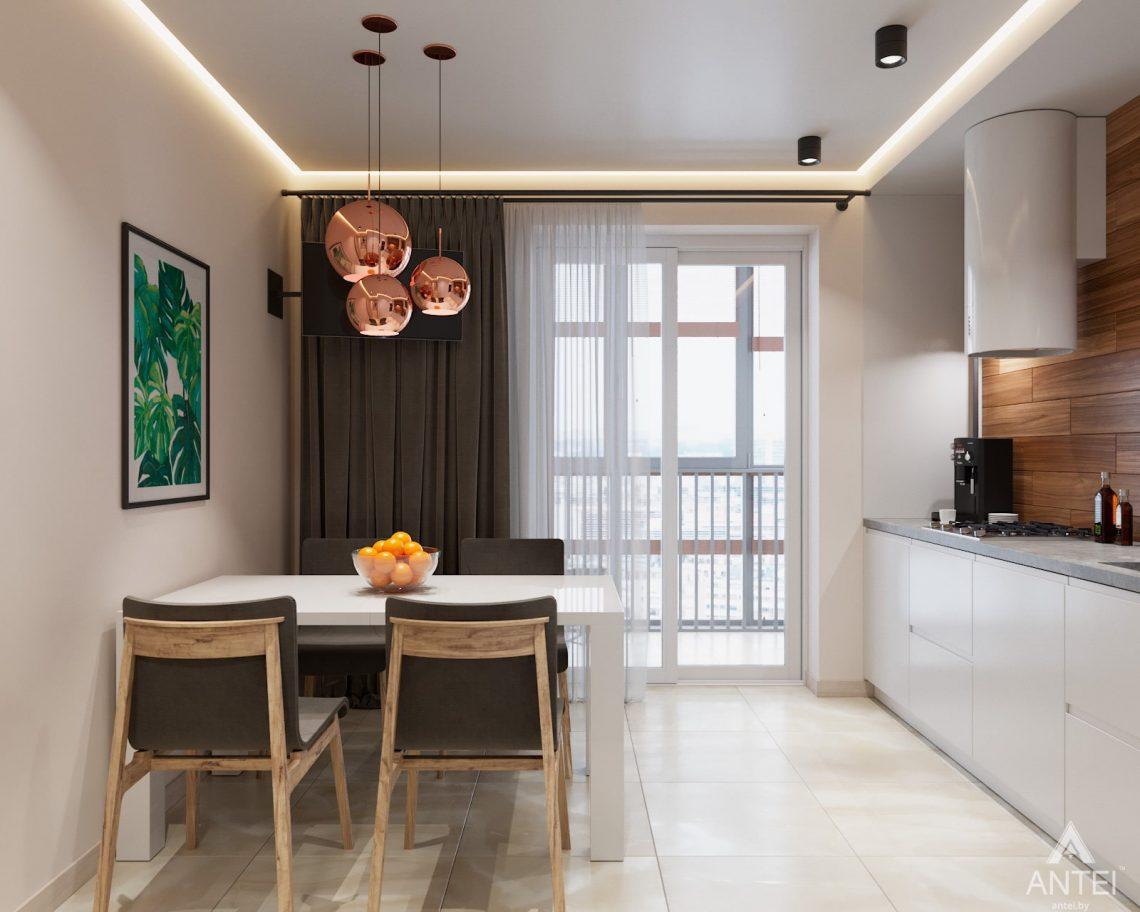 Дизайн интерьера трехкомнатная квартира в Гомеле, ул. Барыкина - кухня фото №3