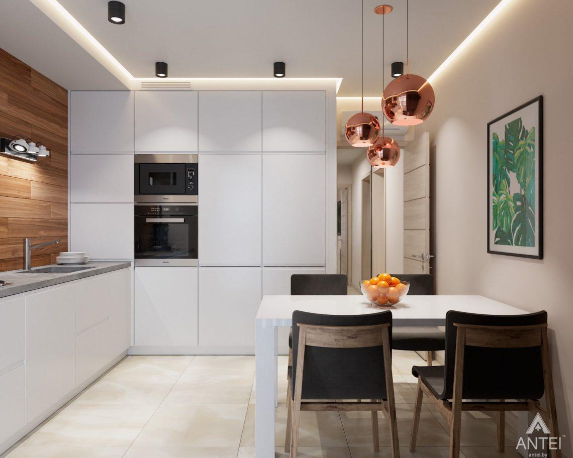 Дизайн интерьера трехкомнатная квартира в Гомеле, ул. Барыкина - кухня фото №2