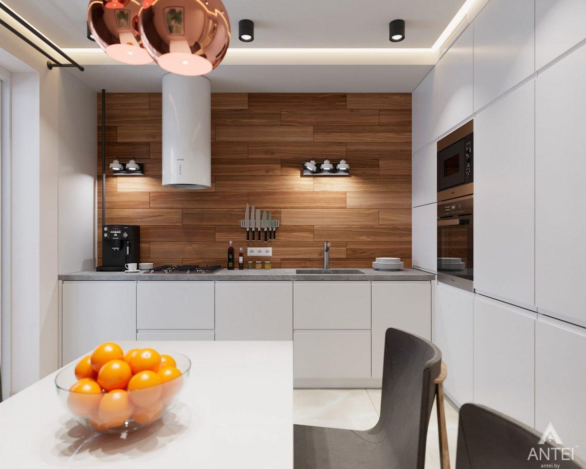 Дизайн интерьера трехкомнатная квартира в Гомеле, ул. Барыкина - кухня фото №1