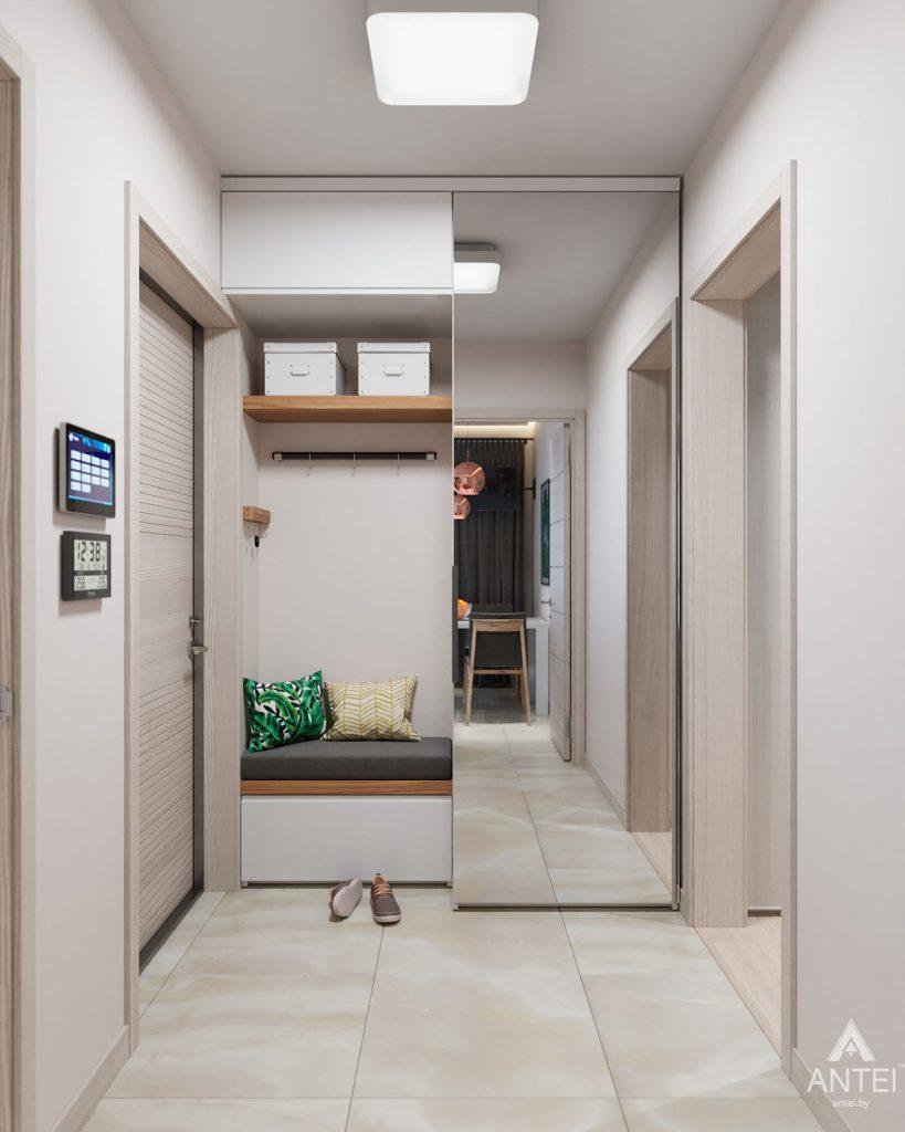 Дизайн интерьера трехкомнатная квартира в Гомеле, ул. Барыкина - прихожая фото №1
