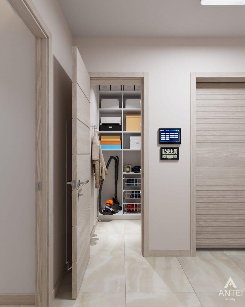 Дизайн интерьера трехкомнатная квартира в Гомеле, ул. Барыкина - прихожая фото №2