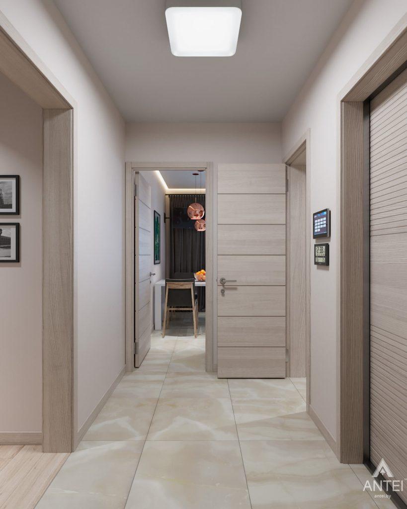 Дизайн интерьера трехкомнатная квартира в Гомеле, ул. Барыкина - прихожая фото №3