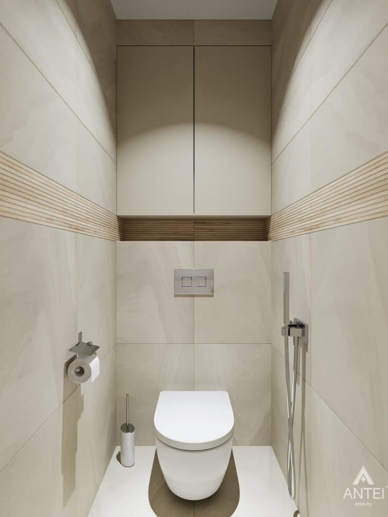 Дизайн интерьера трехкомнатная квартира в Гомеле, ул. Барыкина - туалет фото №1