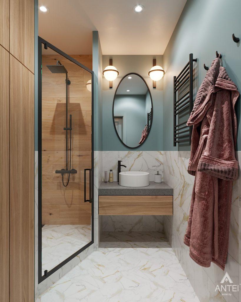 Дизайн интерьера двухкомнатная квартира в Минске, пр-т Дзержинского - санузел фото №1